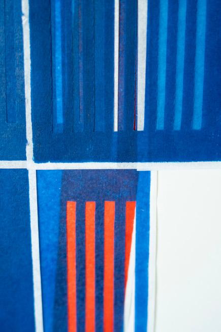 Detail aus: rot beseitet X-I-2021 - Katharina Fischborn - Foto: Artur Eurich